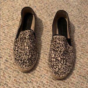 Zara leopard print espadrille low wedge show